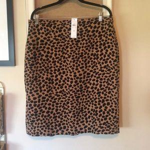 Ann Taylor Animal print skirt